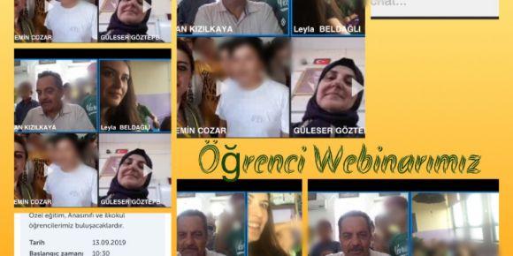 Gezintwinner projesinin öğrenci webinarı yapıldı