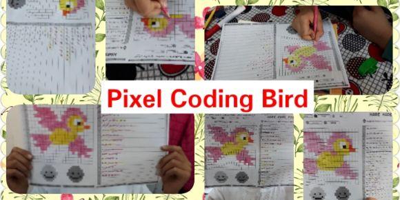 Hayvan temalı pixel  kodlama çalışması yaptık