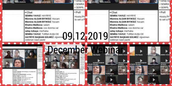 Aralık Webinarı Yapıldı