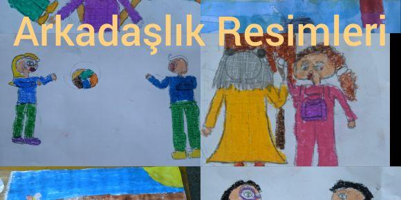Barış Manço Bizimle Projesi Kapsamında Öğrenciler Arkadaşlık Resimleri Çizdiler