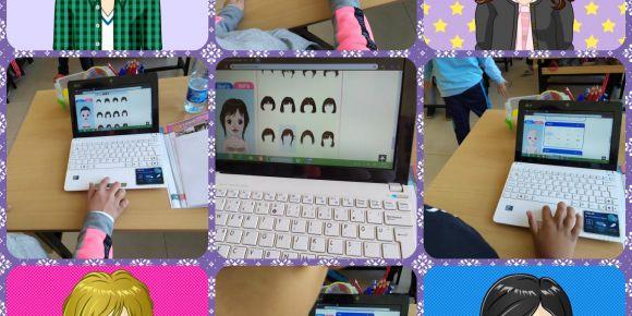 Mehmet Akif Ersoy İlkokulu öğrencileri kendi avatarlarını oluşturuyor