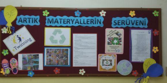 3/E sınıfı öğrencileri' Artık Materyallerin Serüveni' eTwinning  rojesine başladııı