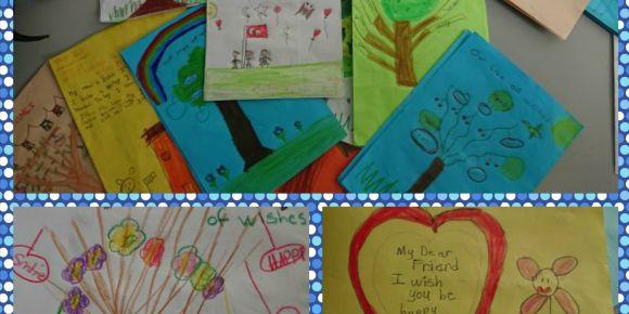 Our tree of wishes eTwinning projesi ile yeni yıl kartları yaptık