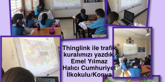 Thinglink web2 aracı ile Trafik kurallarımızı Türkiye haritamıza ekledik