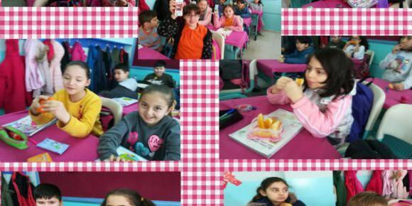 Eğlenerek Hareket  Et Sağlıklı Beslen proje  kapsamında    Süt -Meyve Günü