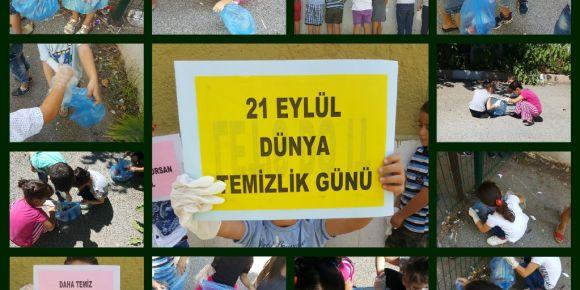 Fatih İlkokulu 21 Eylül Dünya Temizlik Günü Etkinliğini Gerçekleştirdi