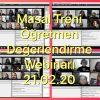 """""""Masal Treni"""" eTwinning Projesi  Değerlendirme Webinarı"""
