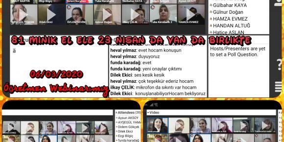 Projemizin Öğretmen Webinarı