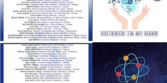 """Etwinning uluslararası """"Science in my hand"""" projesi başlıyor"""