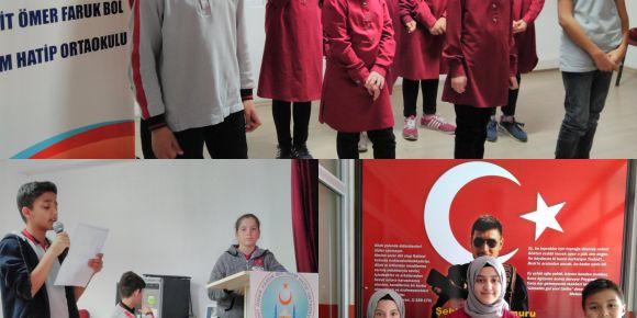 İstiklal Marşı'mızın kabulü ve Mehmet Akif Ersoy'u  Anma programımız