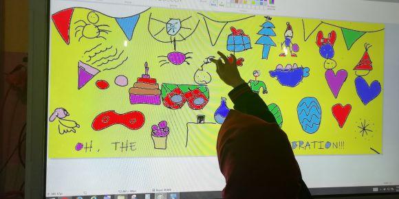 """""""Oh The Celebrations"""" adlı eTwinning projemizin logosunu hazırladık"""