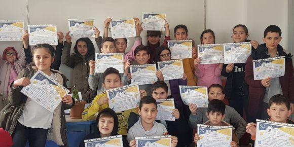 """""""Durakta Matematik"""" katılım sertifikalarımız"""
