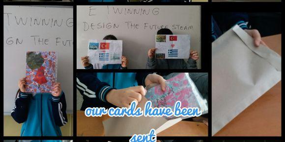Etwinnng için kartlarımızı gönderdik
