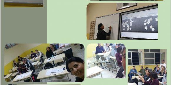 Hizmetiçi eğitimde projelerimiz ve web 2.0 araçları örnek olarak anlatıldı