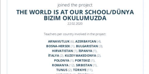 he world is at our school/Dünya bizim okulumuzda