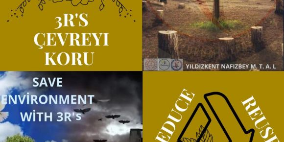 SAVE ENVİRONMENT WİTH 3R'S