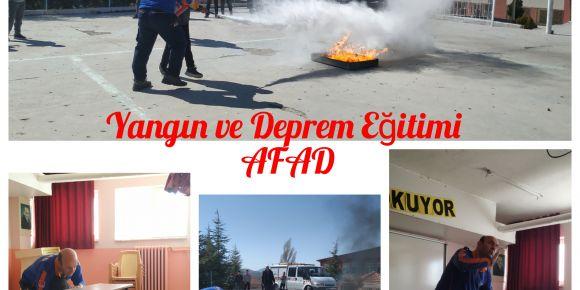 AFAD -Yangın ve Deprem Eğitimi
