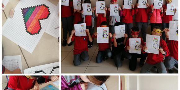 Kurtlar İlkokulu 4/A Sınıfı öğrencileri kodlama öğreniyor