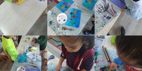 Art with Tıny Hands eTwinng Projesi Yağlı Boya Sanatı
