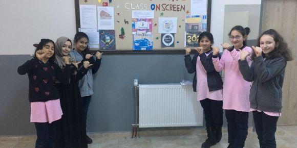 Class On Screen Etwinning Projesi Okul Panosu