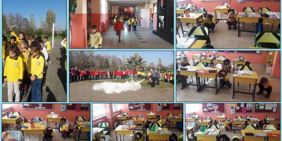 Okulumuzda afet eğitimi hazırlık günü