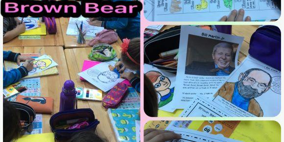 I can read 2 ilk kitabımız Brown Bear Etkinlikleri