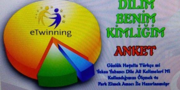 Dilim Benim Kimliğim e twinning projesi anket sonuçları tamamlanmıştır