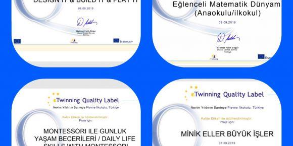 Okulumuz Ulusal Kalite Etiketi ile ödüllendirildi