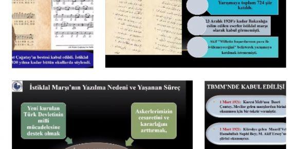 12 Mart İstiklal Marşımızın Kabul Edilişinin Yıldönümü