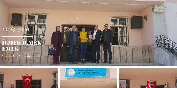 Türk Kızılay'ından Çerkezköy Cumhuriyet İlkokuluna Bir Plaket