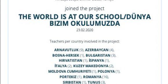 The world is at our school - Dünya bizim okulumuzda