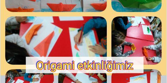 Miniklerin origami etkinliği