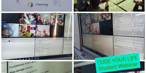 """""""Code Your Life"""" eTwinning proje ortakları canlı bağlantıda buluştu"""