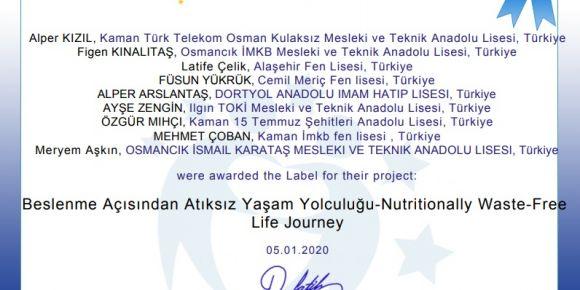 Beslenme Açısından Atıksız Yaşam Yolculuğu-Nutritionally Waste Free Life Journey