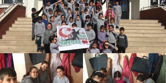 Türk Milleti Daima Mehmetçiğin Yanında diyen küçük yüreklerin büyük sevgisi