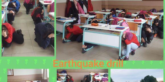 Okulumuzda deprem tatbikatı yapıldı