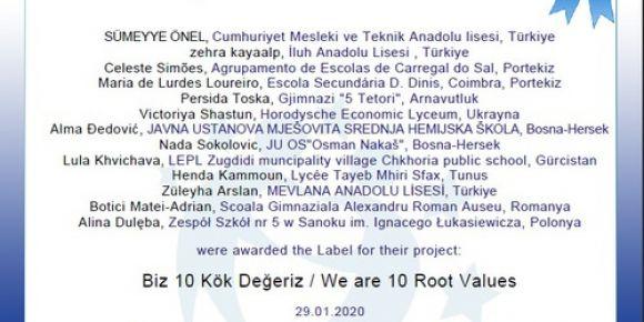 Biz 10 Kök Değeriz / We are 10 Root Values