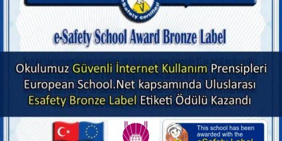 Ankara Öncü Kolej eSafety Label platformunda bronz etiket aldı