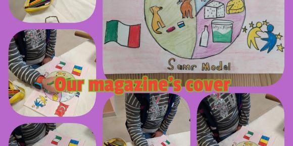 Mehmet Akif Ersoy İlkokulu öğrencileri dergi kapağı tasarlıyor