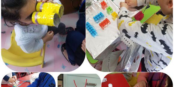 Minik Ellerle Sanata Dokun e-Twinning projesi Mustafa Aydın İlkokulu Anasınıfı