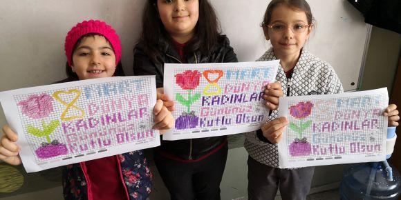 8 Mart Dünya Kadınlar günü ile ilgili kodlama çalışması yaptık