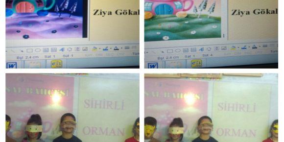 Yazılan masallar öğrenciler tarafından canlandırıldı
