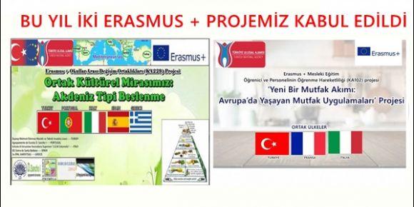 Bu Yıl Okulumuzun İki Erasmus + Proje Başvurusu Kabul Edildi
