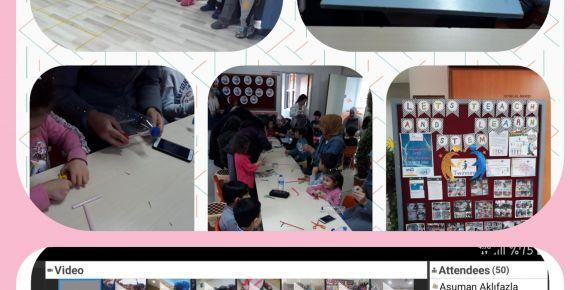 Proje kapsamında Aile katılımlı Stem atölyesi yapıldı