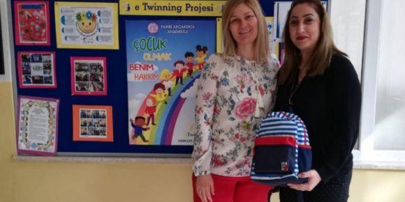 E Twinning Gezgin Çantası Bugün Okulumuzda