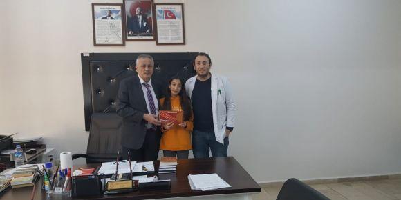 Tangram Turnuvasını Kazanan Öğrencimiz Ödülünü Aldı