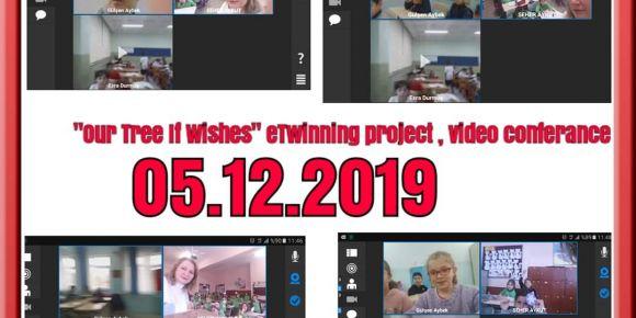 """Our Tree Of Wishes""  eTwinning projesinde öğrenciler tanıştı"