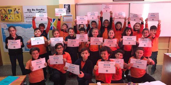 4/C Sınıfı Bilge Kunduz'un Sorularını Yanıtladı
