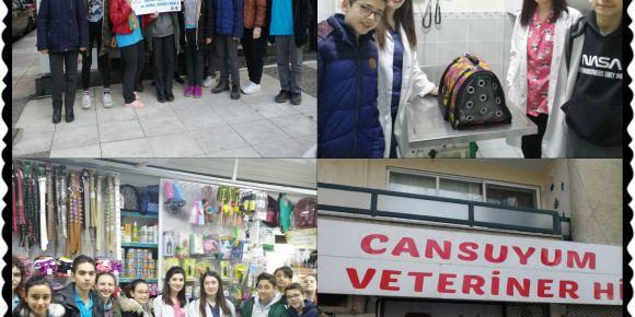 Öğrencilerimizden Veteriner Ziyareti
