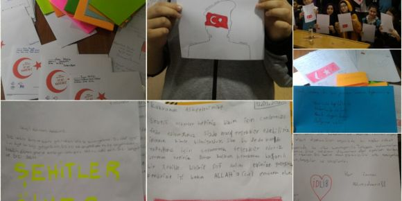 Empatiksen sempatiksin eTwinning projesinde askerlerimize mektup yazdık